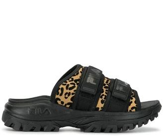 Fila Outdoor Leopard Print Sandals