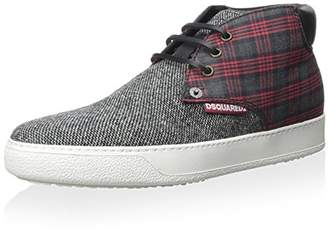 DSQUARED2 Men's Plaid Sneaker