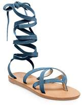 SoHo Cobbler Women's Soho Cobbler Amathist Suede Ankle Wrap Gladiator Sandals