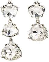 Kenneth Jay Lane WOMEN'S MISMATCHED CRYSTAL DROP CLIP-ON EARRINGS