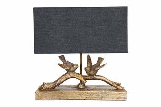 Creative Co-op Rustic Bird Rectangle Shade Table Lamps