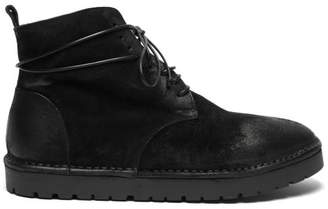 Marsèll Sancrispa Alta Suede Lace Up Boots - Mens - Black