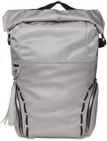 Diesel Black Gold Smooth Leather Backpack W/ Nylon Details