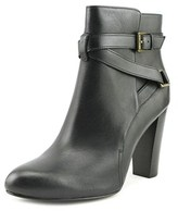 Lauren Ralph Lauren Vianca Women Round Toe Leather Black Ankle Boot.