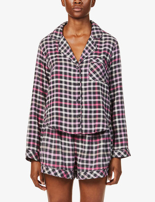 Rails Kellen checked rayon and cotton-blend pyjama set