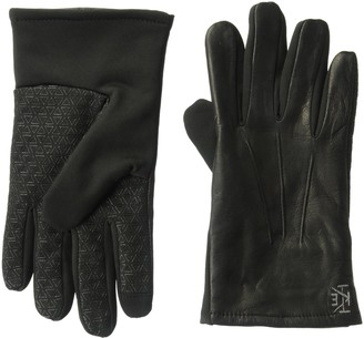 Ike Behar Men's Stretch Leather Touchscreen Gloves
