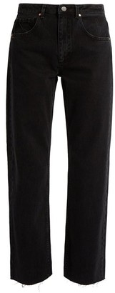 Raey Press Straight-leg Jeans - Black