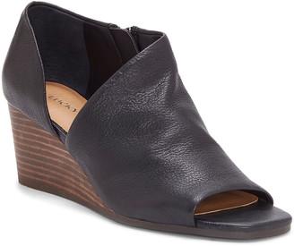 Lucky Brand Women's Casual boots BLACK/001 - Black Tylera Leather Peep-Toe Bootie - Women