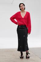 Thumbnail for your product : Ganni Viscose Satin Midi Skirt