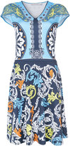 Mary Katrantzou printed v-neck dress - women - Spandex/Elastane/Viscose - S