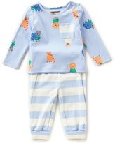 Joules Baby Boys Newborn-24 Months Toby Patterned Tee & Striped Pants Set