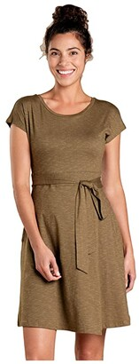 Toad&Co Cue Wrap Short Sleeve Dress (Fir) Women's Clothing