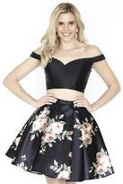 Jolene Collection - 17549 Floral Off Shoulder A-line Dress