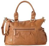 OiOi Leather Slouch Tote Diaper Bag in Tan