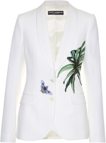 Dolce & Gabbana Kenzia leaf-appliqué single-breasted jacket