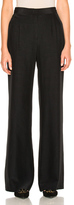 Alberta Ferretti Silk Wide Leg Pants in Black.