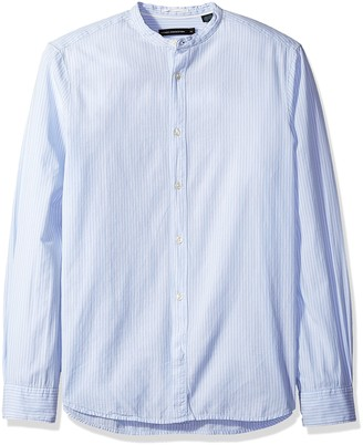 French Connection Men's Core Tech Poplin Striped