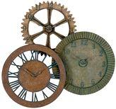 Rusty 3-Pc. Gears Wall Clock Set