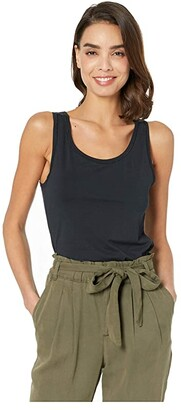 Hanro Cotton Sensation Tank Top (Black) Women's Sleeveless
