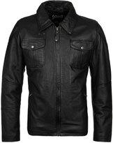 Schott Nyc Kennedy Black Leather Jacket