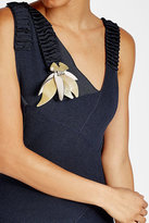 Marni Brooch with Leather