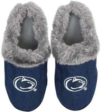 Women's Penn State Nittany Lions Cable Knit Slide Slippers