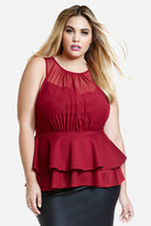 Fashion to Figure Ruben Layered Peplum Top