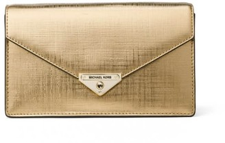 Michael Kors Pale Gold Grace Crossbody Bag