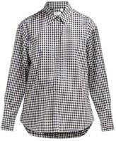Burberry Gingham Cotton Shirt - Womens - Black White