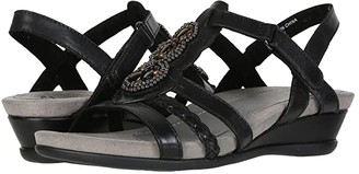 Earth Falmouth (Black Leather) Women's Sandals