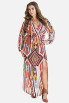 Fashion to Figure Jadine Printed Chiffon Maxi Dress