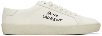Saint Laurent Off-White Worn-Look Court Classic SL/06 Sneakers