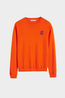 Parker Chinti & Orange Anchor Badge Cashmere Sweater