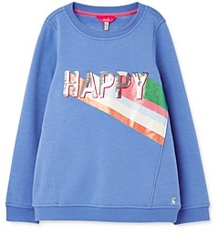 Joules Girls' Voila Happy Sweatshirt - Little Kid, Big Kid