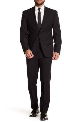 "Calvin Klein Solid Black Wool Suit Separate Pants - 30-34"" Inseam"