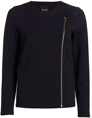 Nic+Zoe Conquer Knit Moto Zip Jacket
