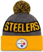 New Era Men's Pittsburgh Steelers 2016 Classic Sport Knit Hat Heather Grey