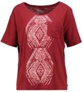 Roxy WILD CHAMAN Print Tshirt syrah