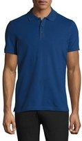 Armani Collezioni Stretch-Cotton Polo Shirt, Blue