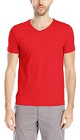 HUGO BOSS BOSS Green Men's Slim Fit Jersey V-Neck T-Shirt with Chest Logo