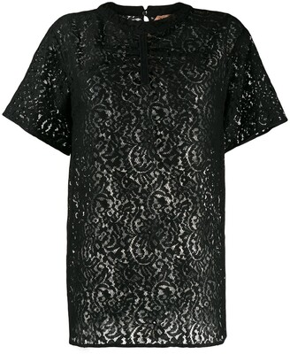 No.21 lace embroidered blouse