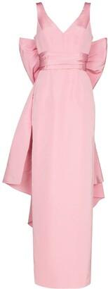 Carolina Herrera V-neck bow-detail maxi dress