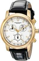 Akribos XXIV Men's AKR443YG Coronis Collection Quartz Chronograph Strap Watch