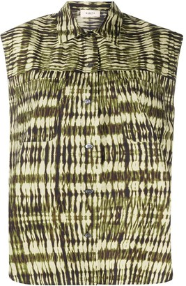 Barena Abstract-Print Short-Sleeve Shirt