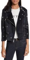 Rebecca Minkoff Women's Wes Star Stud Moto Jacket