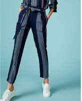 Express Striped Sash Waist Ankle Pant