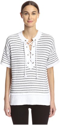 Cullen Women's Striped Top with Lacing