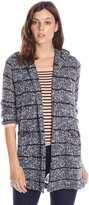 Splendid Women's Broome Stripe Loose Knit Long Cardigan