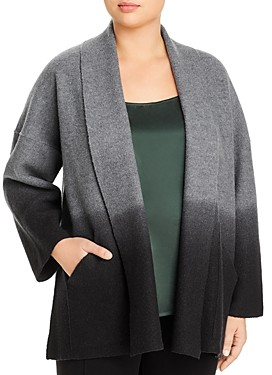 Eileen Fisher Plus Dip-Dyed Wool Jacket