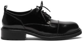 Ann Demeulemeester Patent-leather Derby Shoes - Black